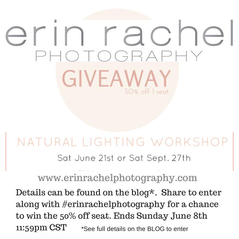 Erin Rachel Photography Natural Lighting & Posing Workshop